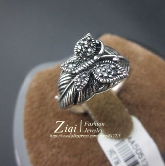 2013(12PCS/LOT)High Quality Antique Silver Plated Butterfly Animal Jewery Ring For Women Free Shipping 6#-9# Gift ZQR0079(China (Mainland))
