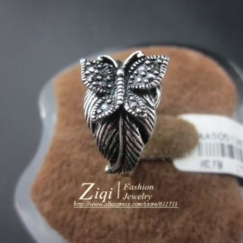 2013(50PCS/LOT)High Quality Antique Silver Plated Butterfly Animal Jewery Ring For Women Free Shipping 6#-9# Gift ZQR0079(China (Mainland))