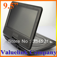 BLACK 9.5'' PORTABLE DVD PLAYER USB & SD GAME AV-IN & OUT FM TV RADIO  US Fast Shipping MP0189