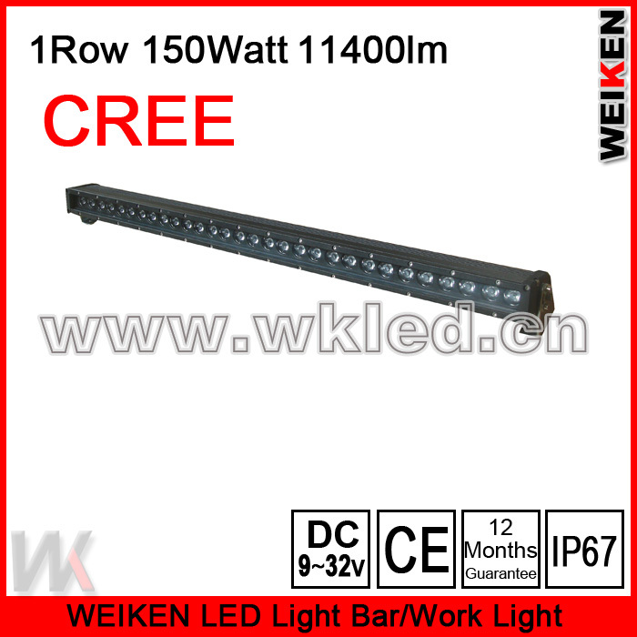factory sale with good waterproof cree 150W LED offroad light bar for ATV UTV etc(China (Mainland))