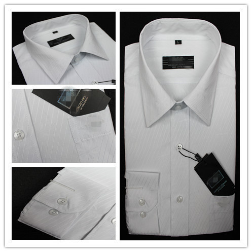 Free shipping 2013 the latest comfortable clothing for men men's luxury dress shirts fit men's brand designer shirts 100% cotton(China (Mainland))