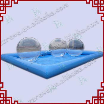 U.S. Market Popular Heat Seam PVC giant inflatable pools