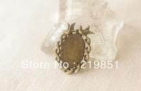 Inner 18*25MM Oval Blank Pendant Base Wholesale Custom DIY Jewelry Component Accessary Cabochon Base Pendant Settings YY6