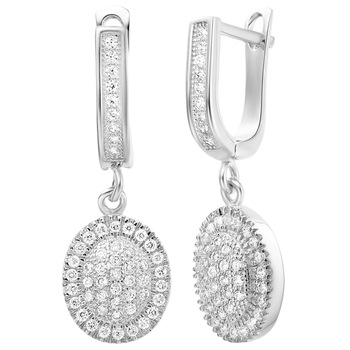 (Min order is $10)Free shipping Fascinating luxury  shinning  crystal earring 18k gold plated platinum plated eardrop