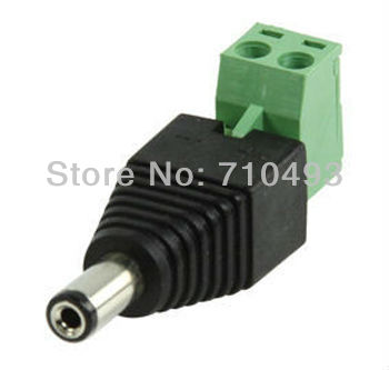 Ex-Pro CCTV DC Plug 5.5mm x 2.1mm Male to Terminal Adapter Extend DC Plugs for CCTV Express Free shipping
