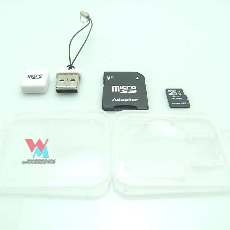 TF card+USB Adapter+SD Adapter+White plastic retail box Free shipping(China (Mainland))
