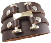 2013 trendy fashion handmade H punk spike stud belt buckle unisex wide leather bracelets for women & men jewelry bangle