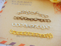 300Pcs 3MM/ W (Silver/Gold/Bronze) Metal Extended Chains Link Chain DIY Jewelry Findings Accessorries Components