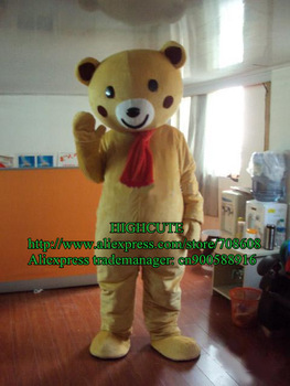 Brown Teddy Bear Plush Cartoon Character Mascot Costume Mascotte Outfit Suit No.269 Free Shipping