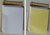 White PVC material A4 blank self-adhesive label sticker for laser printer water proof