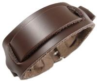 2013 trendy fashion handmade punk round rivet belt buckle unisex wide brown chain leather bracelets for women & men jewelry