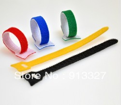 50pcs/lot 12MMX150MM Cable Ties,nylon strap Power Wire Management,Marker Straps Velcro,Retail computer(China (Mainland))
