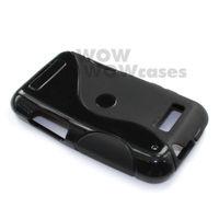 2 Piece a Lot Black BK TPU Gel Case Cover S-Line For Motorola Defy MB525 / Defy Plus ME525 Hong Kong Seller