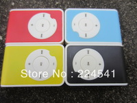 Fashion colorful Mini Clip mp3 player  with Gift box hi-fi earphone and usb cable support micro SD/TF card Freeshipping