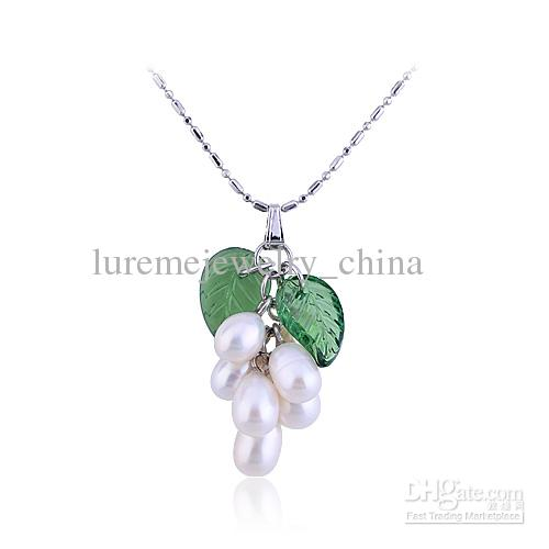 10 pcs Rhodium pearl pendents necklace of grape decoration plating chains for women 2013 fashion(China (Mainland))