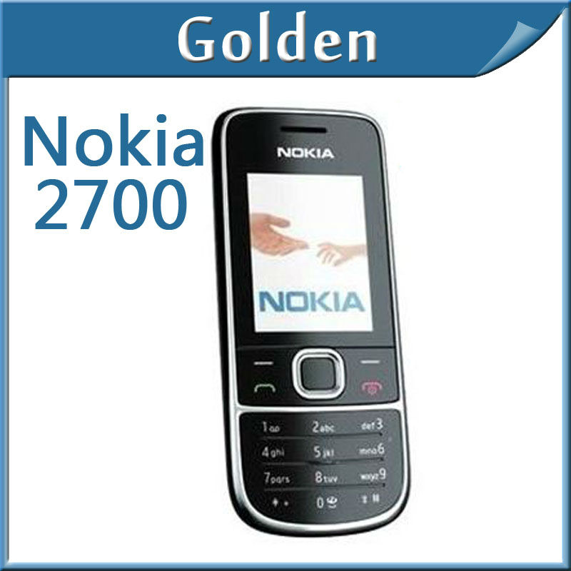 EMS Freeshipping Nokia 2700 cell phone support Russian keyboard phones Quadband mobile phone 1 year warranty(China (Mainland))