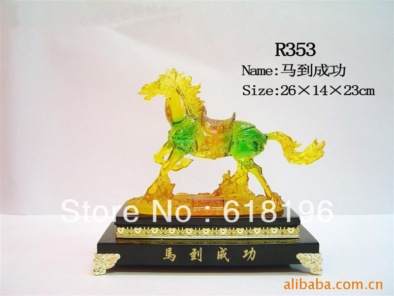 Rich galloping horse crafts home decoration gift success(China (Mainland))
