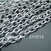 8M/lot 7MM Nickel Metal Chains Plated Link Special Chain Jewelry Findings Components