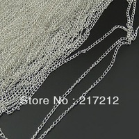 20M/lot 1.8MM Silver Plated Metal Extended Chains Jewelry Link Chain Components