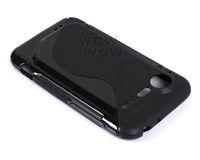 2 Piece a Lot Black BK TPU Gel Soft Case S-Line Wave For HTC Incredible S S710E Hong Kong Seller