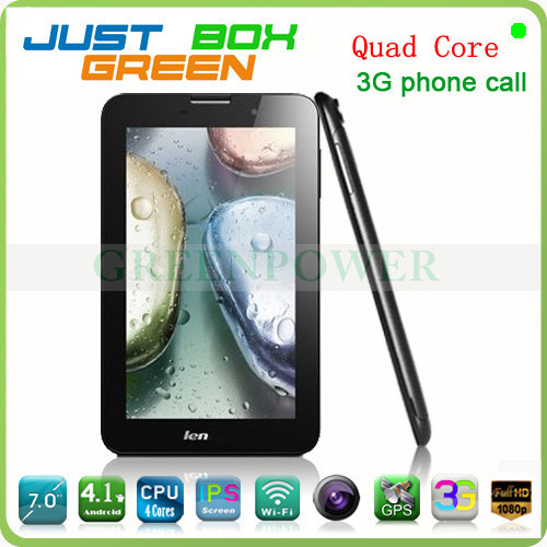 Promotion!! Lenovo A3000 Tablet PC Quad core 7 inch IPS1024*600pixels Android 4.2 OS 3G Phonecall GPS MID for car.HOT!!!(China (Mainland))