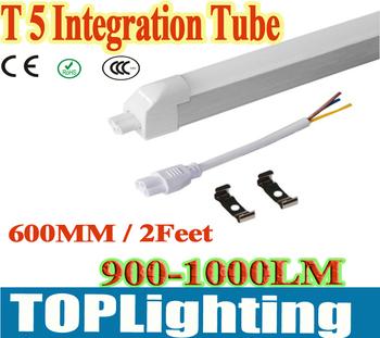 20pcs 14W  600mm 2 Feet T5 LED Integration Tube Milky Cover  Warm white /cool white 85v-265v 1300LM bright LED LIGHT Bulblamp