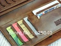 Promotion! Cowhide vintage wallet,Men's soft dough leather wallet,man Side buckle purse/wallet for men whosale price