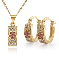 18KGP Gold Plated Nickel Free Necklace Earrings Sets 2013 Latest Fashion Jewelry Set S007