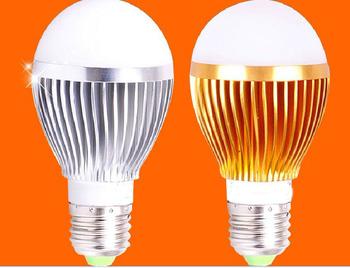 Free shipping 3W , 5w , 7w 85-265V silver led globe bulb E27 E14 B22 lamp AC 85-265C Free Shipping HOT !