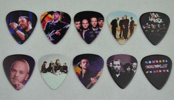 Lots of 20Pcs Rock Band  Coldpaly 2 sides printing Guitar Picks Medium 0.71mm