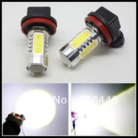 7.5W Super Bright SMD H11 Car LED White Day Driving Fog Light Lamp Bulb 1 pair /lot led lamp 12v