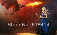 06 Emilia Clarke Game of Thrones Daenerys Targaryen star 22''x14'' wall Poster with Tracking Number