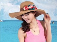 Sun hat sunbonnet female summer beach cap anti-uv sun strawhat Straw Hat Hot sale