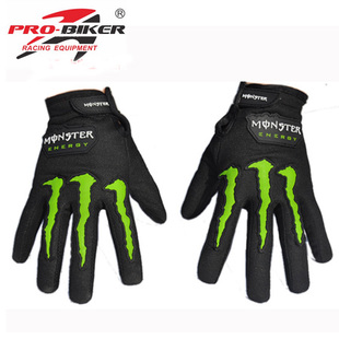 FREE SHIPPING Pro-biker 4wd automobile race motorcycle gloves sports outdoor breathable full finger gloves summer  2PCS=1PAIR