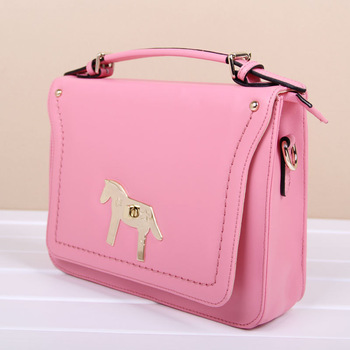 2013 vintage cowhide sewing thread flip lock bag portable one shoulder cross-body bag candy