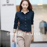 2014 new Promotions hot trendy cozy women blouse shirts jacket T-shirt Fashion  OL shirt female long-sleeved shirt Slim Korean