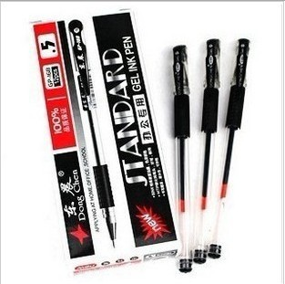 Cheap Office Supplies Gel pen 0.5mm Genuine Black Gel Ink pen(China (Mainland))