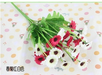 2013 Free shipping New design Wild chrysanthemum Artificial Flowers decoration wedding/party Bouquet  10pcs/lot