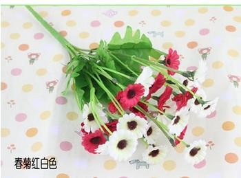 2013 Free shipping New design Wild chrysanthemum Artificial Flowers decoration wedding/party Bouquet  10pcs/lot