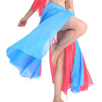 New Dancewear Women's Belly Dance Performance Slits Skirt costume 6 colors # L034929