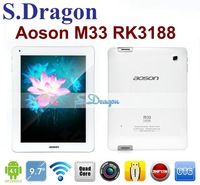HK/SG/CN Free!!! 9.7'' Aoson M33 RK3188 Quad Core tablet pc Retina IPS 2048*1536 2GB/16GB Android 4.1 Dual Camera HDMI Free Gift