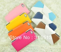 Fashion Check PU leather case cover for iphone 4 4s