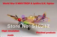 9ccs free ship 1/72 finished world war II piston propeller fighter model military aircraft model  MKV/TROP Spitfire U.K. fighter