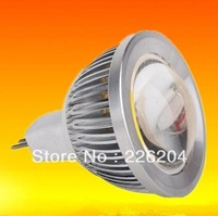 10pcs/lot High power 5W COB 12V MR16 5W LED Spot Light  Pure White/Warm White 450lm 12V DC/AC Aluminum Housing