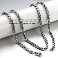Wholesale 2014 New HOT SALE Fashion Jewelry Unisex chain Men's 3/4MM 45/50CM Platinum Plated Necklace for men/women TY324