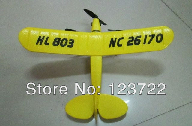 free shipping Sea gull EPP HL803 RTF air plane Rc plane PIPER J3 CUB NC26170 RC Airplane WL801 upgrade with remote controller(China (Mainland))