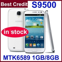 New Star S9500 S4 Mtk6589 Quad Core 1.2GHZ 5 inch IPS capacitive 1G RAM+8G ROM Android 4.2  Android Phone Free Shipping/vicky