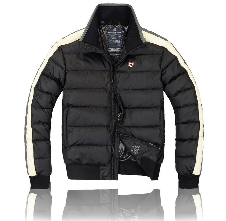 2013 Fashion Men's Brand Down Jacket Winter Outdoor Wear Coat S/ M/ L/ XL Black/ Gray(China (Mainland))