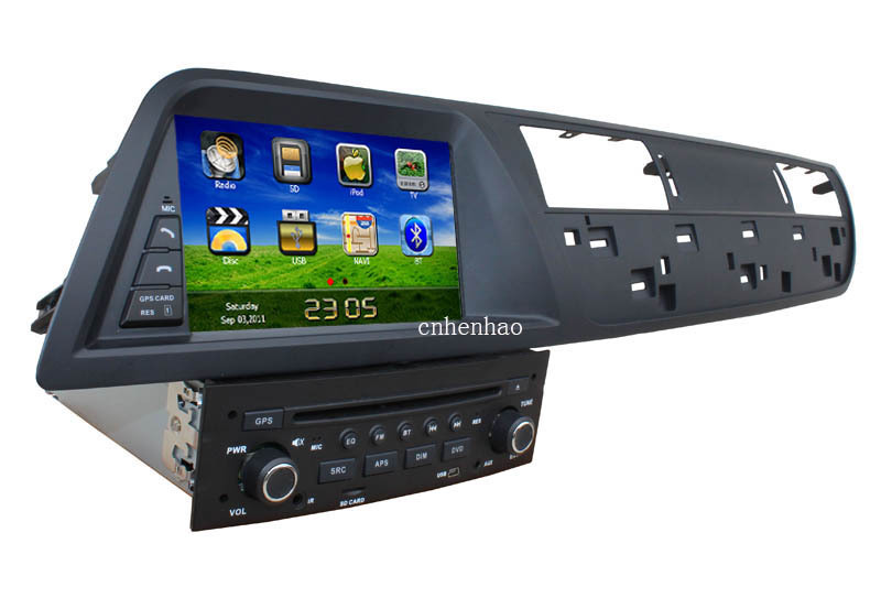HD in dash 1din head unit car dvd player gps navi for Citroen C5 original steering wheel control(China (Mainland))