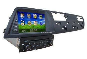 HD in dash 1din head unit car dvd player gps navi for Citroen C5 original steering wheel control